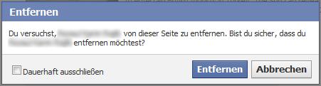 Facebook-Seite: Personen entfernen oder blocken