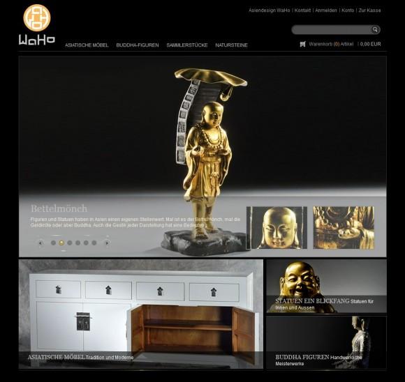 Asiatische Möbel, Buddha Figuren und Japan Garten Exponate von Asiendesign