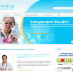 WordPress Webseite von Cytos Medical Services mit Slideshow