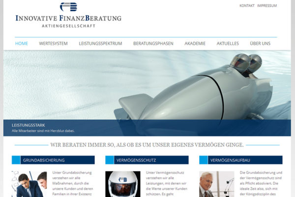 WordPress Webseite von Innovative Finanzberatung 2005 AG